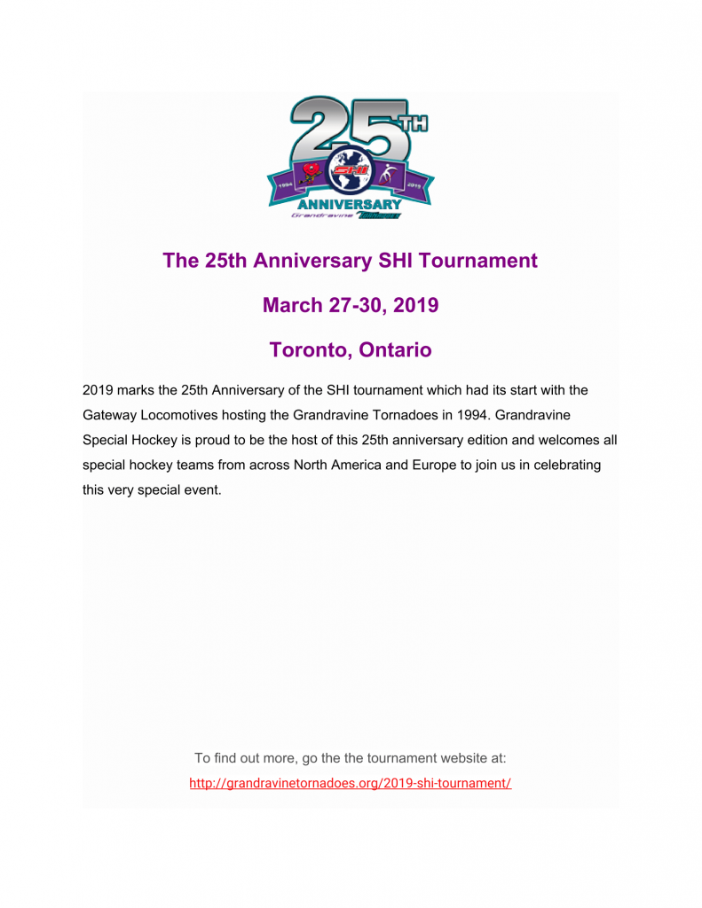 Mar 27 30 2019 Special Hockey International Tournament Toronto